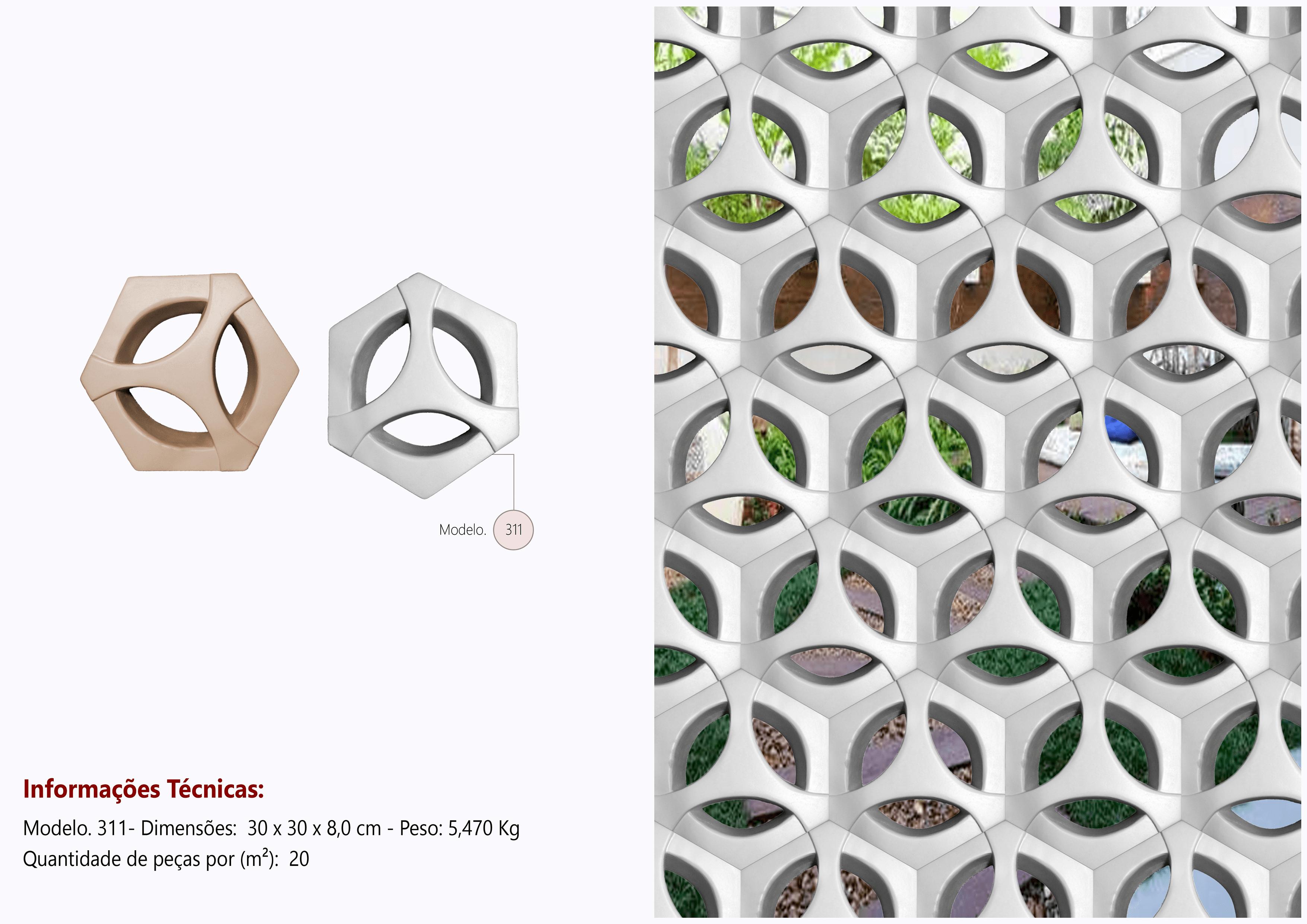 Cobogó Calota Hexagonal