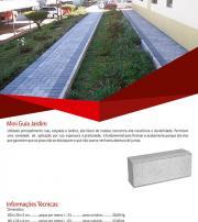 Mini guia de concreto para jardim